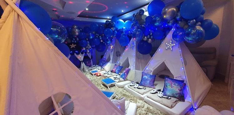 decoração completa noite em família pijamas party it mãe