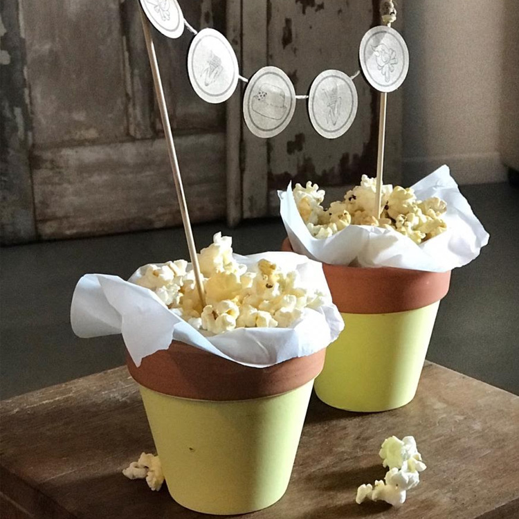 It Mãe: festa junina em casa - vasinhos de pipoca
