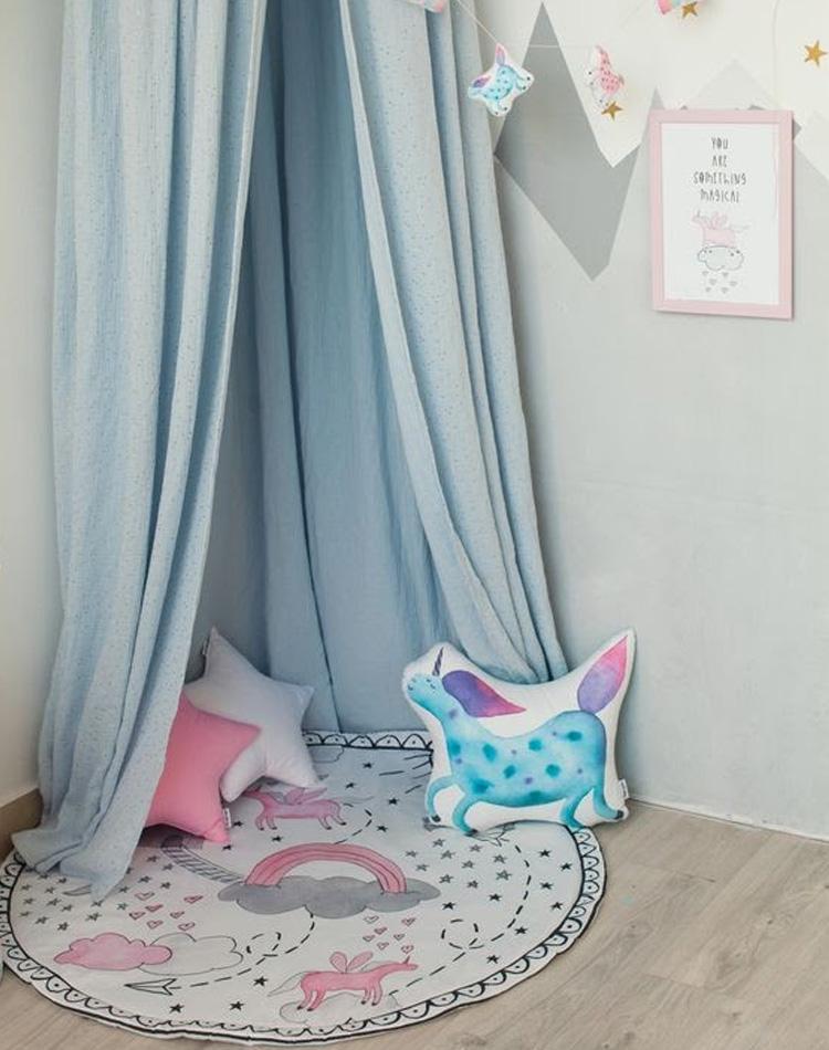 It Mãe - Elefantinho Colorido - quarto das pequenas - cantinho unicórnio