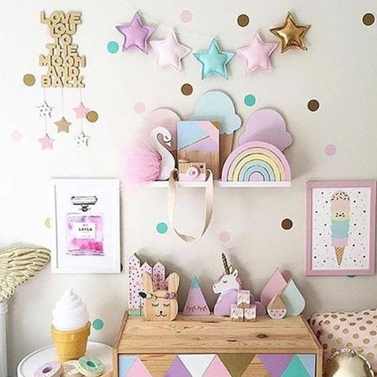 It Mãe - Elefantinho Colorido - quarto das pequenas - décor unicórnio