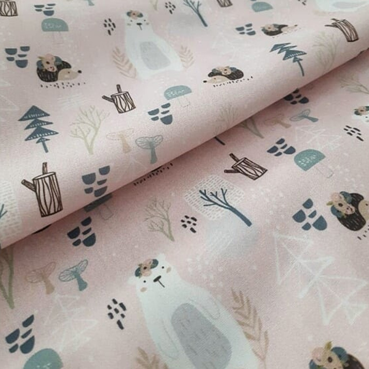 It Mãe - Elefantinho Colorido - quarto das pequenas - lençol floresta