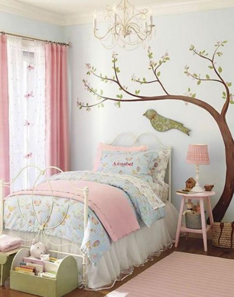 It Mãe - Elefantinho Colorido - quarto das pequenas - pássaros na parede