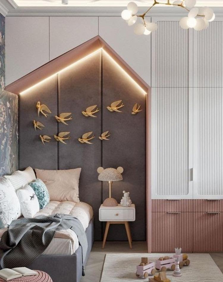 It Mãe - Elefantinho Colorido - quarto das pequenas - décor de pássaros