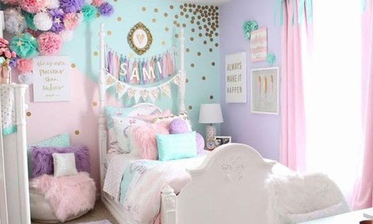It Mãe - Elefantinho Colorido - quarto das pequenas - cartela de cores pastel unicórnio