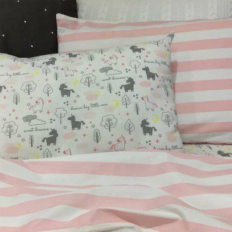It Mãe - Elefantinho Colorido - quarto das pequenas - jogo de cama de unicórnio