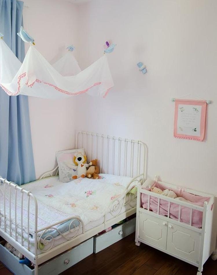 It Mãe - Elefantinho Colorido - quarto das pequenas - véu com pássaros