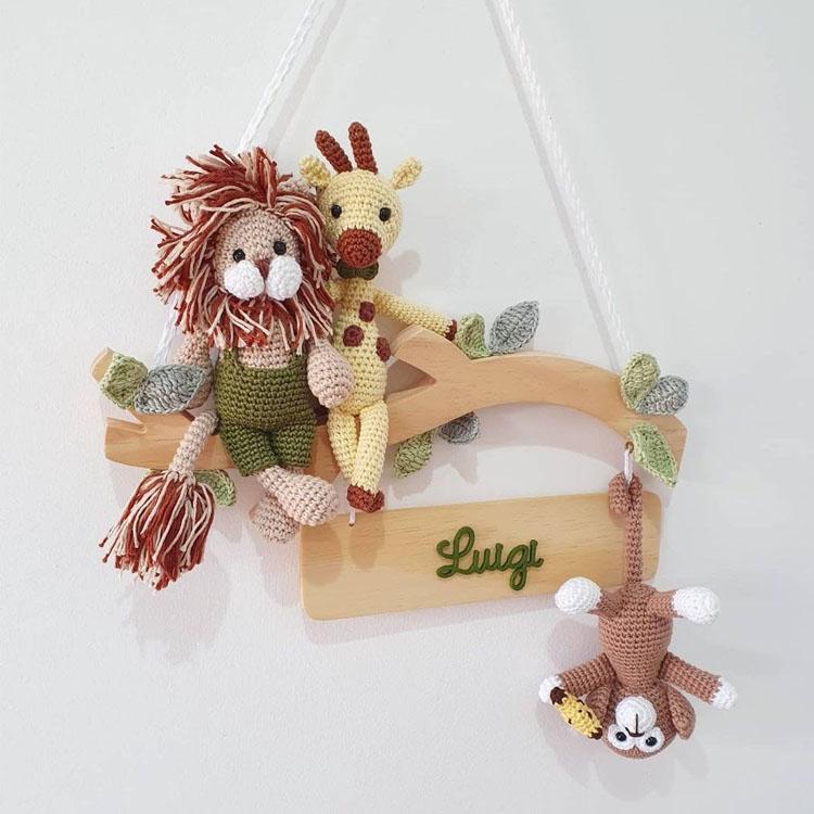 Enfeite para porta da maternidade safari Mister Petit - It Mãe
