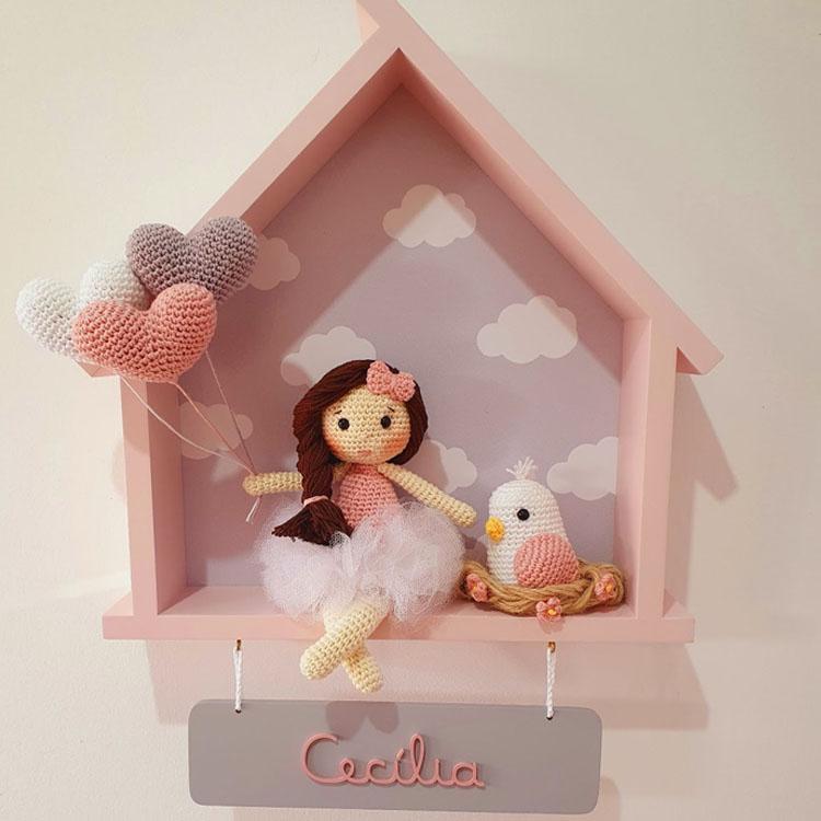 Enfeite para porta da maternidade casa com boneca Mister Petit - It Mãe