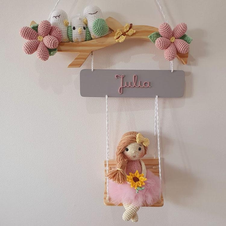 Enfeites para porta da maternidade  de menina Mister Petit - It Mãe