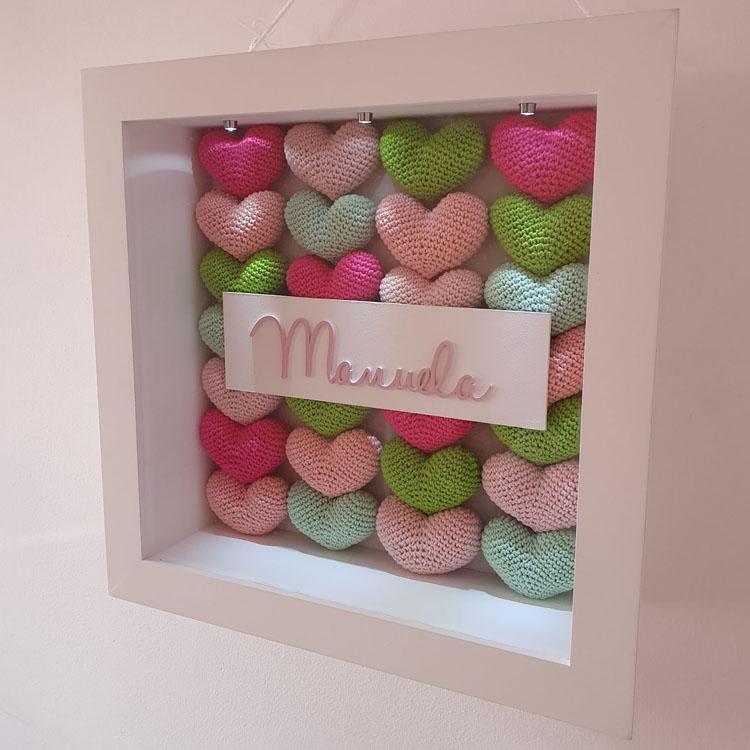 Caixa com corações para porta da maternidade Mister Petit - It Mãe