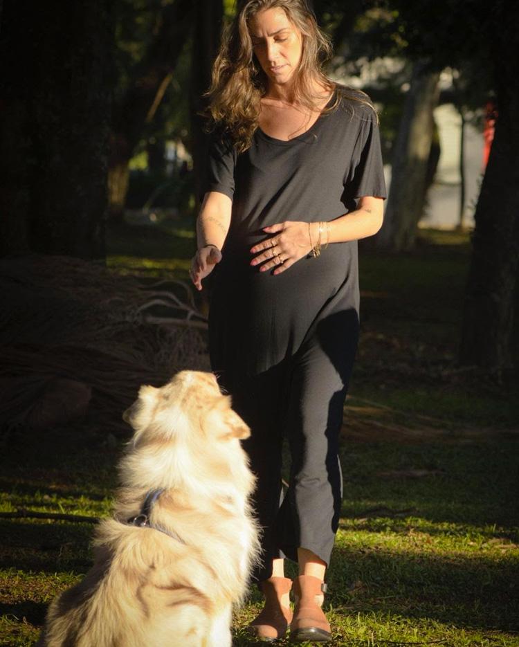macacão grávida fashion melancia it mãe