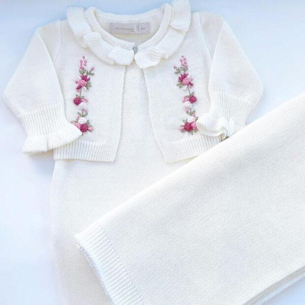 Macacão menina para momentos especiais do bebê Petrushko Baby - It Mãe