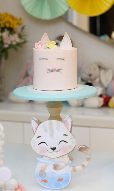 Bolo de aniversário gatinha Bella Idea - It Mãe