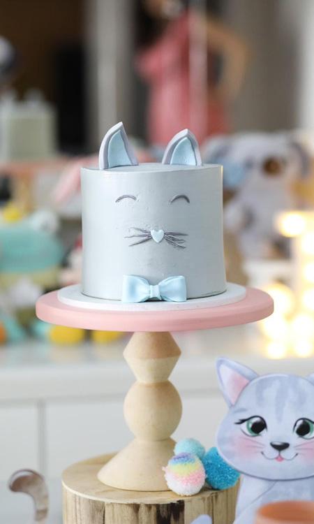 Bolo de aniversário gatinho Bella Idea - It Mãe
