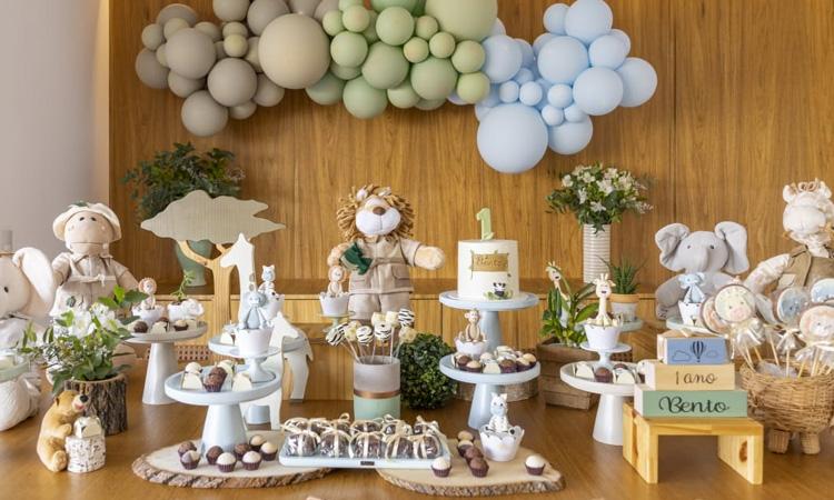 Temas para festas de aniversário sem personagens Safari Bella Idea - It Mãe